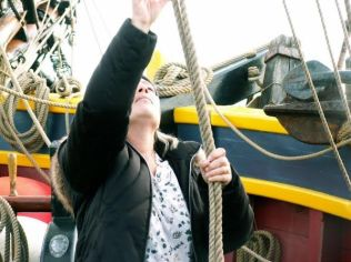 Laura on Tall Ship 3 of 3