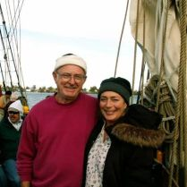 me frank & laura on tall ship